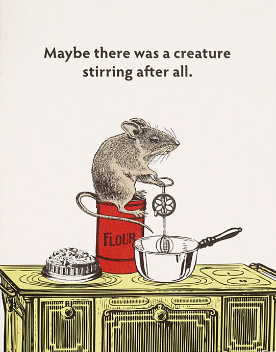 Creature Stirring Holiday Card - Perfect for Foodie Friends!