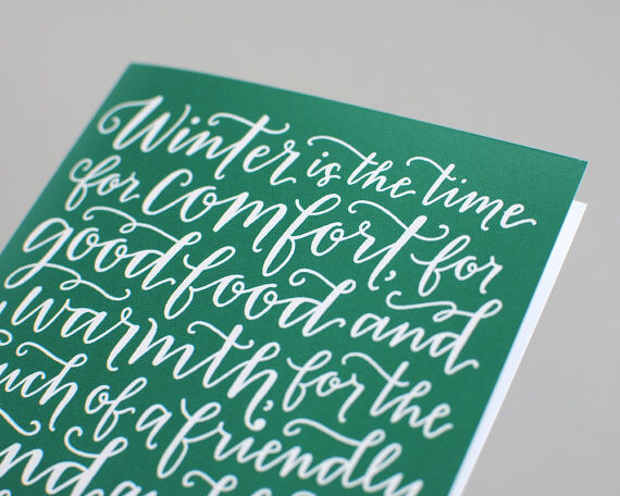 Edith Sitwell Quote  Holiday Card