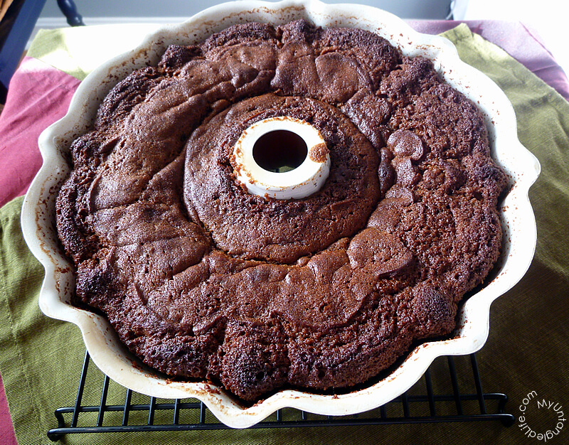 Gingerbread Cake Out of the Oven