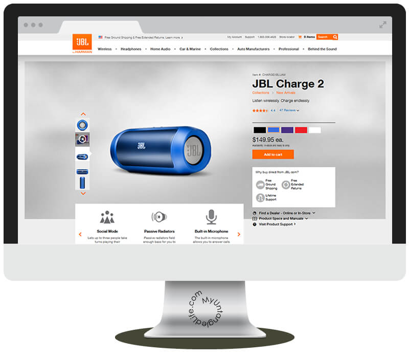 JBL.com Easy Online Ordering #giftingaudio