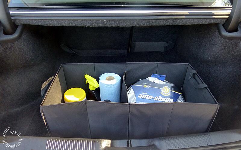 New Car Organizing with #walmartauto