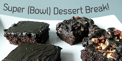 Tailgate with Chocolate Squares for the Super Bowl #recipe