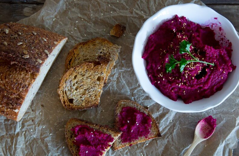 Roasted Red Beet Hummus- from Cooking Stoned