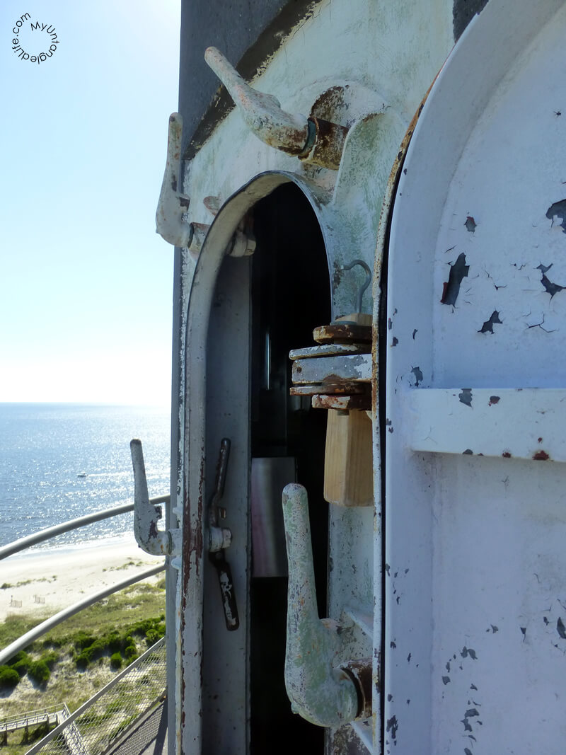 Door Leading out to the Balcony of the OKI Lighthouse in North Carolina