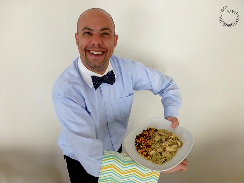 Chef Jake Serving #PowerfulProtein