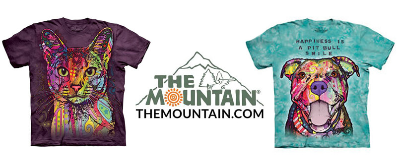Russo Rescue Collection of Pet Rescue T-Shirts from The Mountain. #MountainArtwear