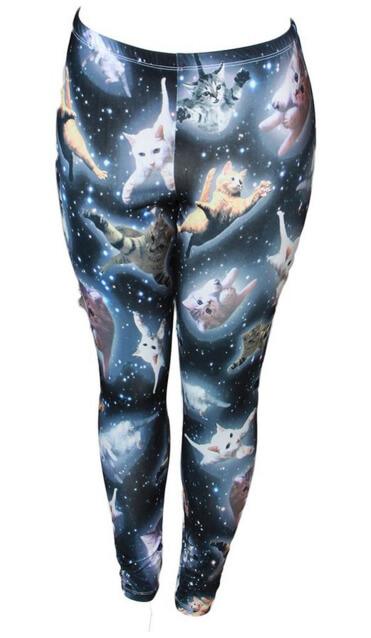Holiday Gift Exchange Ideas - Space Kitten Women's Leggings