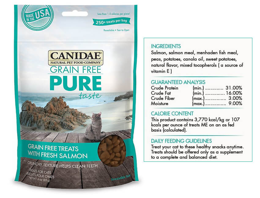 Canidae Grain-Free PURE Taste with Fresh Salmon Cat Treats - Chewy.com