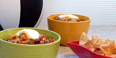 Lentil Chili Recipe #GameforBasketball