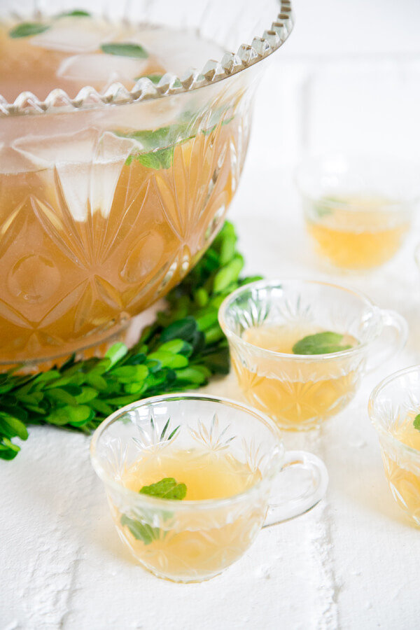St. Patrick's Day Cocktails - Irish Whiskey Green Tea Punch