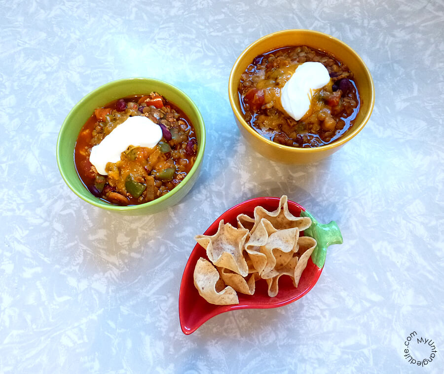 Lentil Chili Recipe - #GameforBasketball