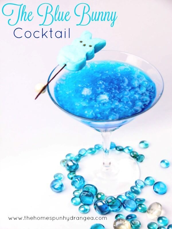 Peeps Inspired Blue Bunny Cocktail