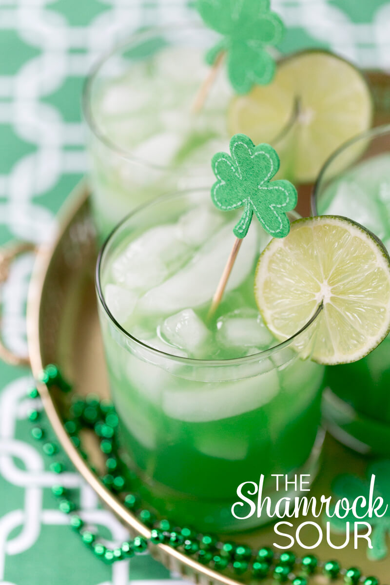 St. Patrick's Day Cocktails - The Shamrock Sour