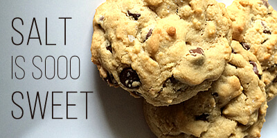 Smitten with Salted Chocolate Chip Cookies