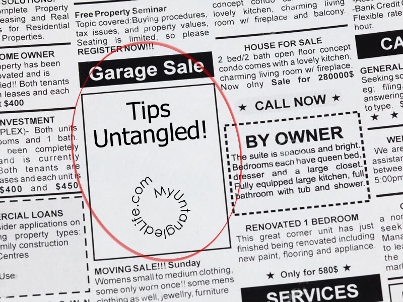 Yard Sale Tips for Success - Get ready for your yard sale this summer with MyUntangled Life.